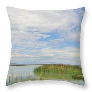 Throw Pillow featuring the photograph Island Peace by Marilyn Diaz