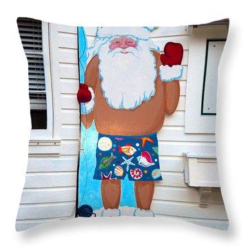 Island Santa Throw Pillow by David Lee Thompson