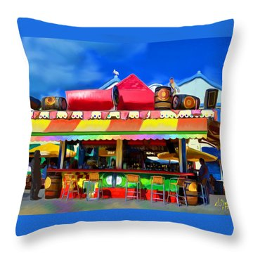 Island Stand Throw Pillow by Gerry Robins