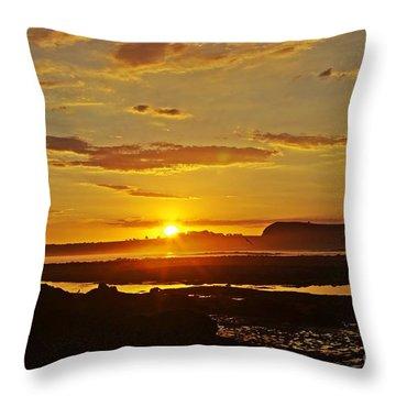 Island Sunset Throw Pillow