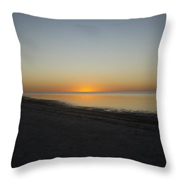 Throw Pillow featuring the photograph Island Sunset by Robert Nickologianis