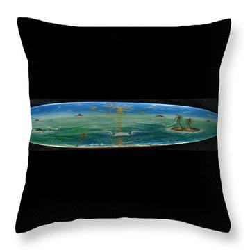 Island Surf Dreams Throw Pillow
