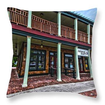 Island Surf Shop Throw Pillow