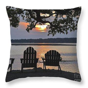 Island Time Throw Pillow by Carol  Bradley