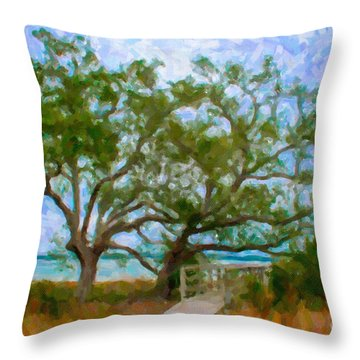 Island Time On Daniel Island Throw Pillow