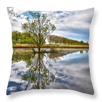 Island Tree Throw Pillow by Frans Blok