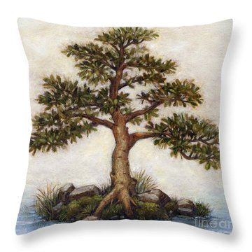 Island Tree Throw Pillow