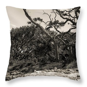 Island Trees Throw Pillow by J Riley Johnson