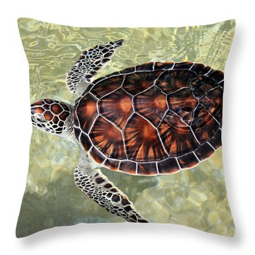 Island Turtle Throw Pillow