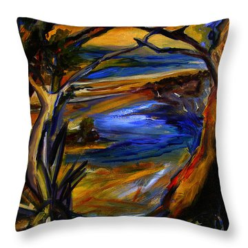 Island Waters St. Kitts Throw Pillow