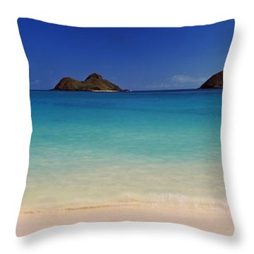 Islands In The Pacific Ocean, Lanikai Throw Pillow