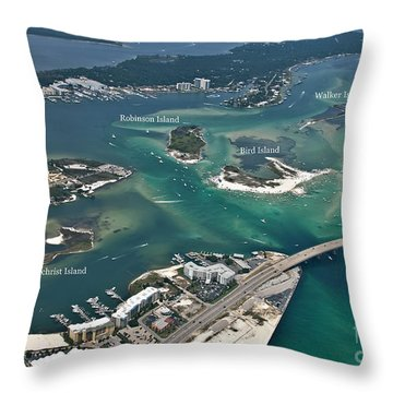 Islands Of Perdido - Labeled Throw Pillow