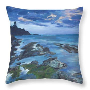 Isle Coast Throw Pillow by Cynthia Morgan