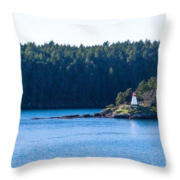Isle In Strait Of Georgia Throw Pillow