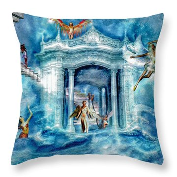 Isle Of Angels Throw Pillow by Amanda Struz
