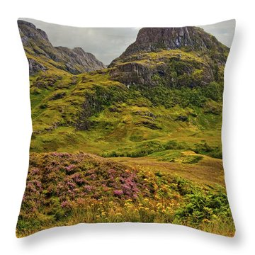 Isle Of Skye Throw Pillow by Marcia Colelli