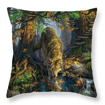 Isle Royale Fall Throw Pillow