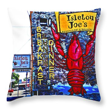 Isleton Joe's Saloon Throw Pillow