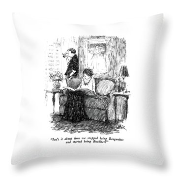 Isn't It About Time We Stopped Being Reaganites Throw Pillow by Robert Weber