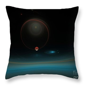 Isochronous Vibrations Throw Pillow by Peter R Nicholls