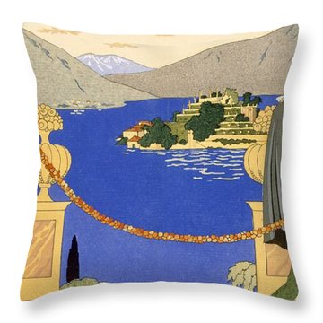 Isola Bella Throw Pillow by Georges Barbier