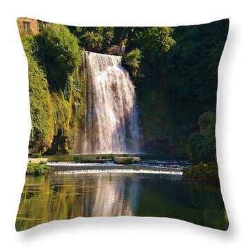 Throw Pillow featuring the photograph Isola Del Liri Falls by Dany Lison