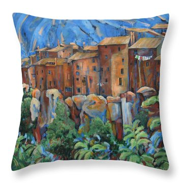 Isola Di Piante Large Italy Throw Pillow