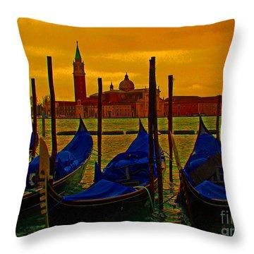 Isola Di San Giorgio Maggiore In Venice Throw Pillow