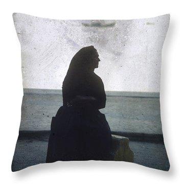 Isolated Woman Throw Pillow by Bernard Jaubert