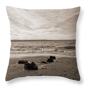 Throw Pillow featuring the photograph Isolation by Arlene Sundby