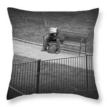 Isolation Throw Pillow by Brian Wallace