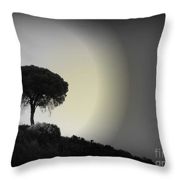 Throw Pillow featuring the photograph Isolation Tree by Clare Bevan