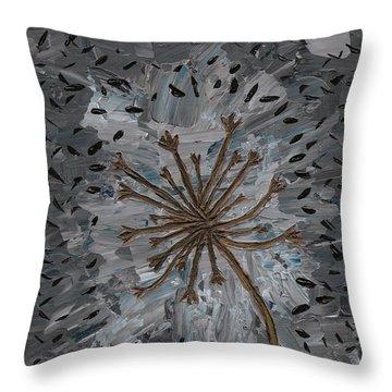 Isolation Vacuus Vos Throw Pillow by Vicki Maheu