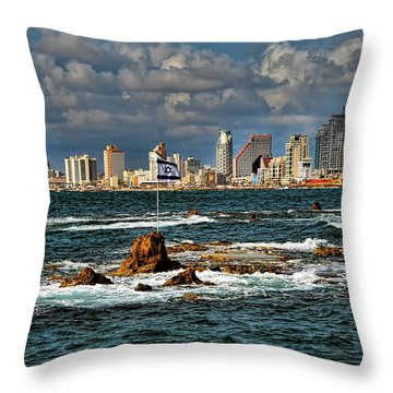 Throw Pillow featuring the photograph Israel Full Power by Ron Shoshani
