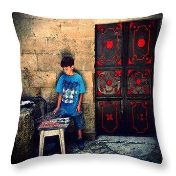 #israel #gerusalemme #travel #trip Throw Pillow by Carlo Malagnino