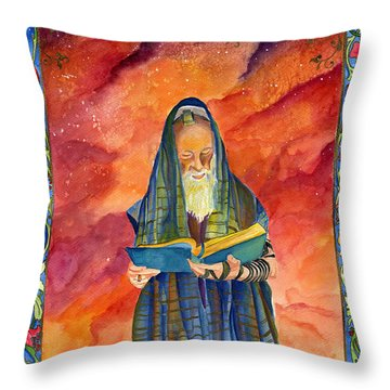 Israel Rabbi Throw Pillow