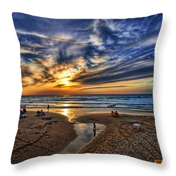 Throw Pillow featuring the photograph Israel Sweet Child In Time by Ron Shoshani