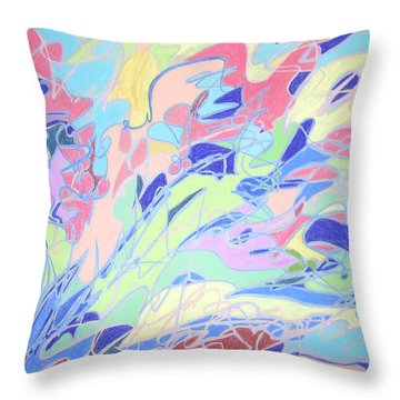 Israel Synchromy Throw Pillow by Esther Newman-Cohen