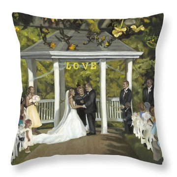 Issaquah Wedding  Throw Pillow