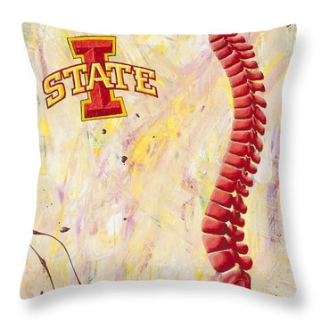 Isspines Throw Pillow by Brent Buss