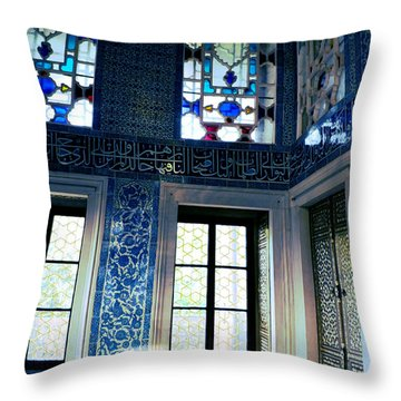 Istanbul - Topkapi Palace Throw Pillow by Haleh Mahbod
