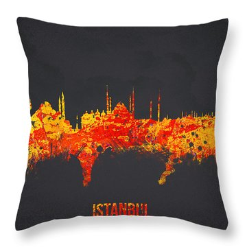 Istanbul Turkey Throw Pillow by Aged Pixel