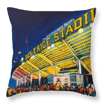 Isu - Jack Trice Stadium Throw Pillow