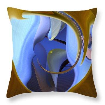 It Is Blue Inside Throw Pillow