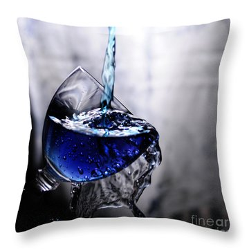 It Is Blue Throw Pillow