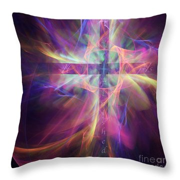 Throw Pillow featuring the digital art It Is Finished by Margie Chapman