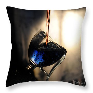 It Is Red And Blue Throw Pillow by Randi Grace Nilsberg
