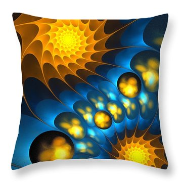 Throw Pillow featuring the digital art It Is Time by Anastasiya Malakhova