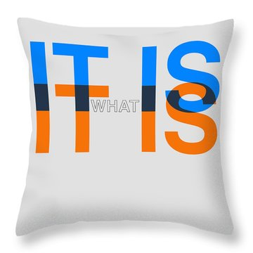 It Is What It Is Poster Throw Pillow