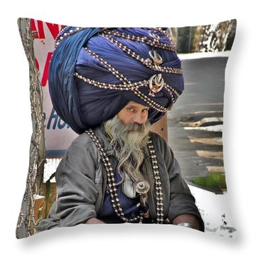 Its All In The Head - Rishikesh India Throw Pillow